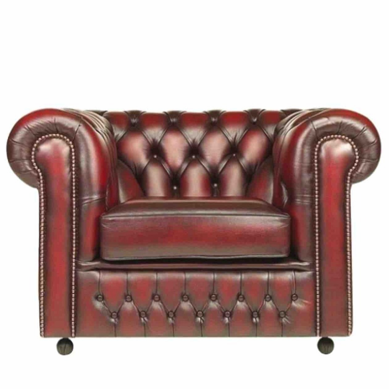 Sessel Chesterfield Conventry Antique RED
